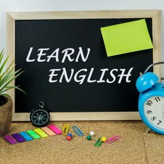 Ardoise avec Learn English de marqué