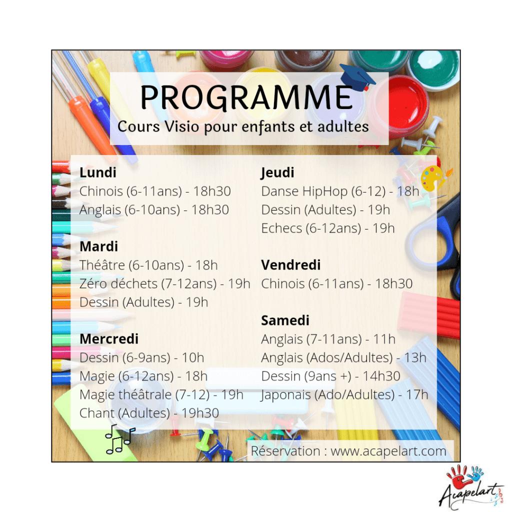 programme visio mai 2021